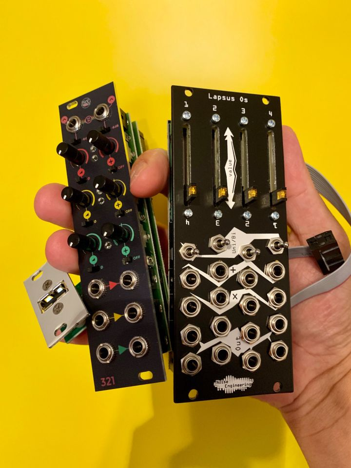 The three modules in my hands