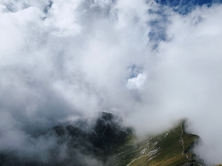 Moléson in the clouds