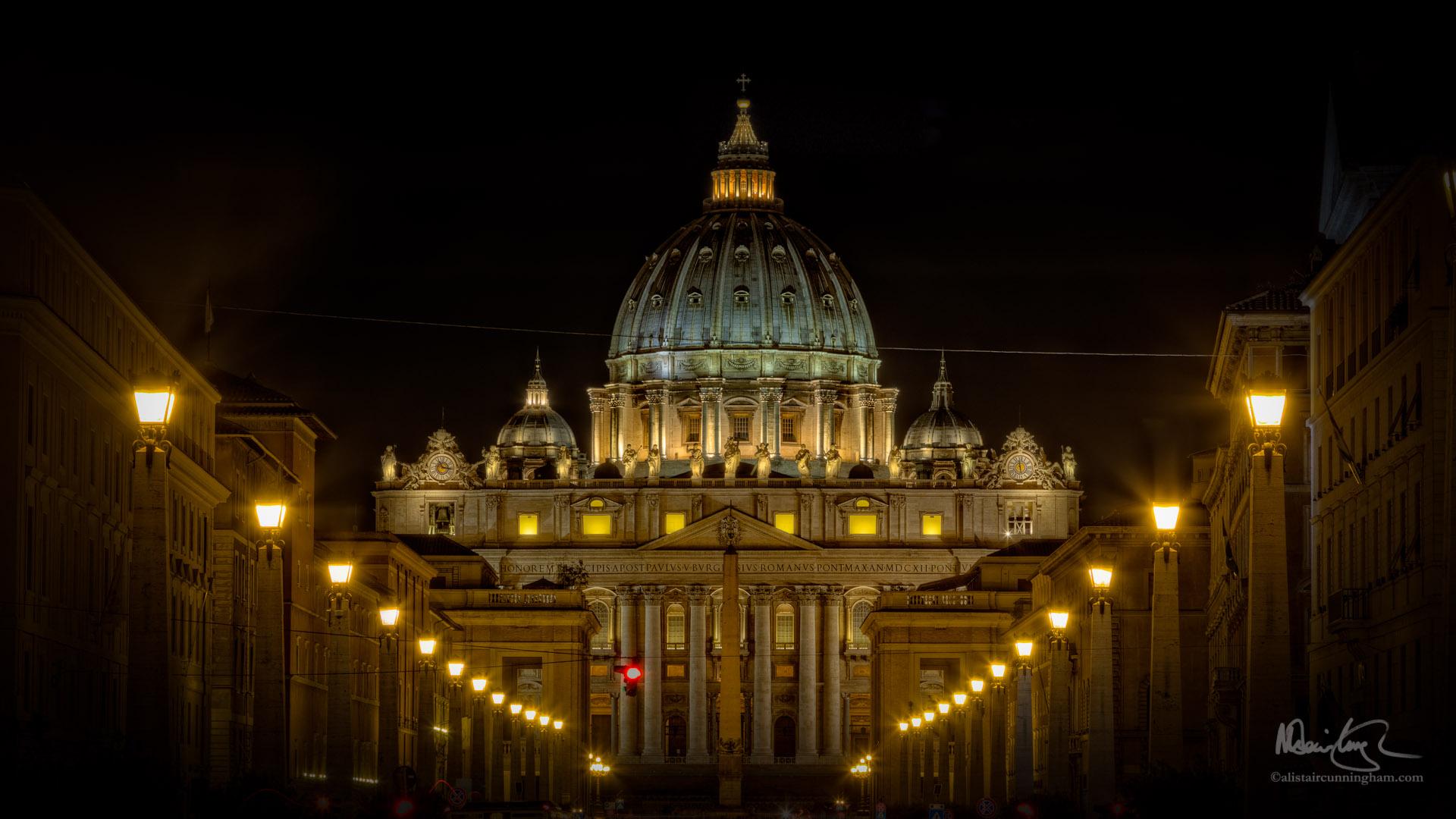 St Peter's Basilica Looking Down the Via della Conciliazione
