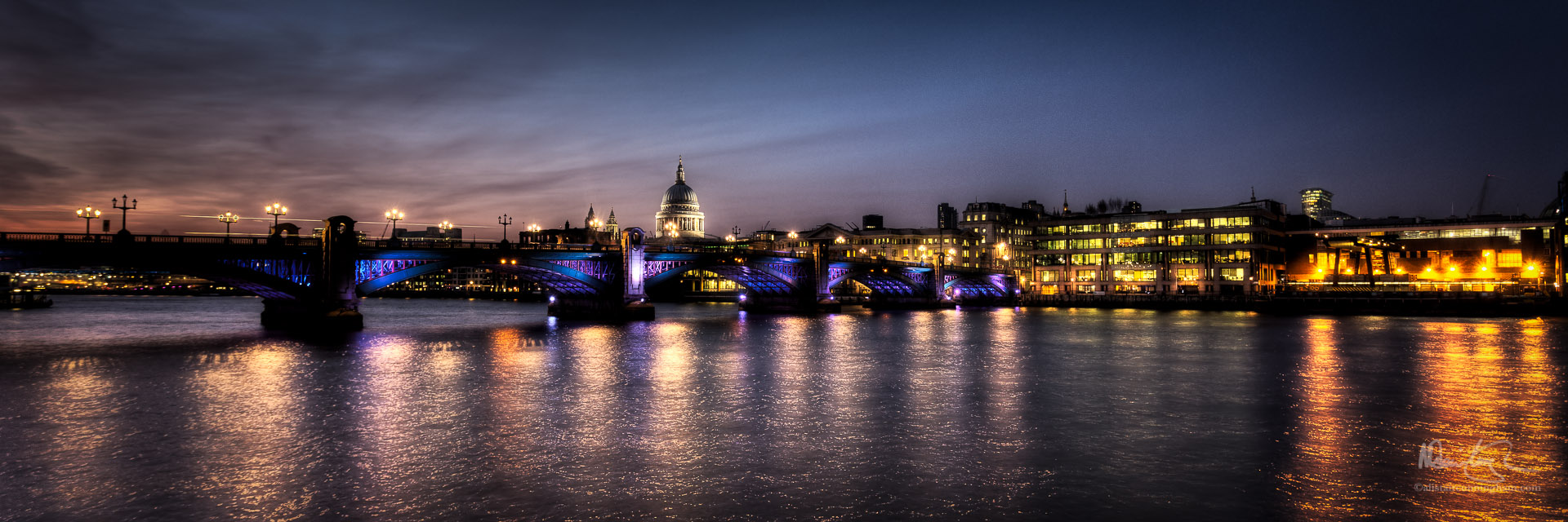 Blackfriars Bridge by Night