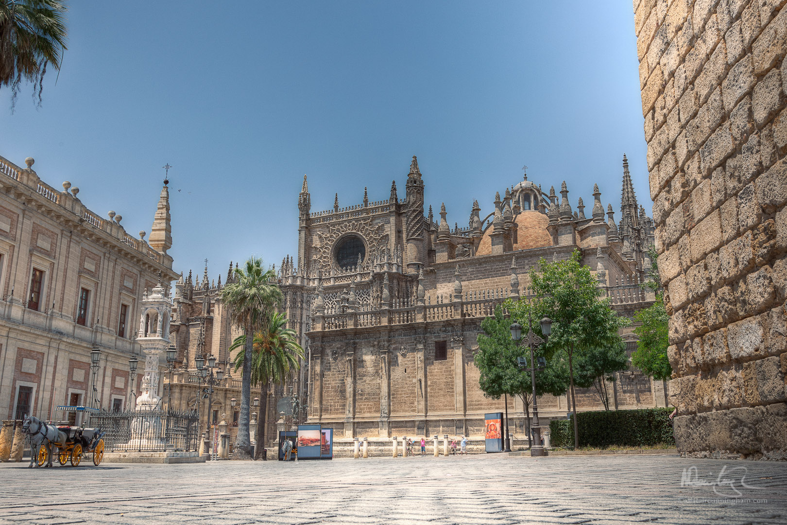 Outside of the Cathedral of Saint Mary of the See, Seville