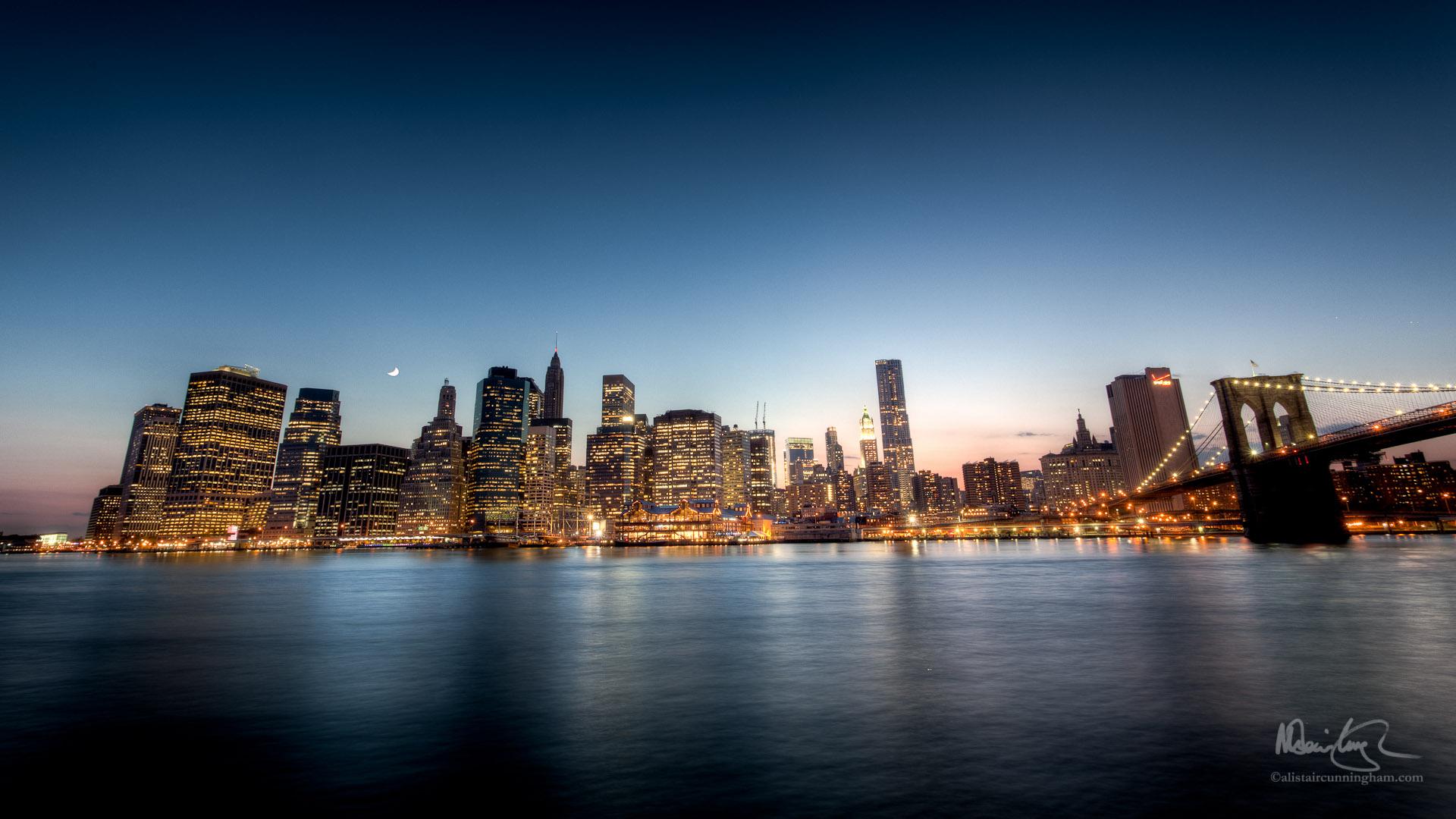 HDR Photograph of the Manhattan skyline