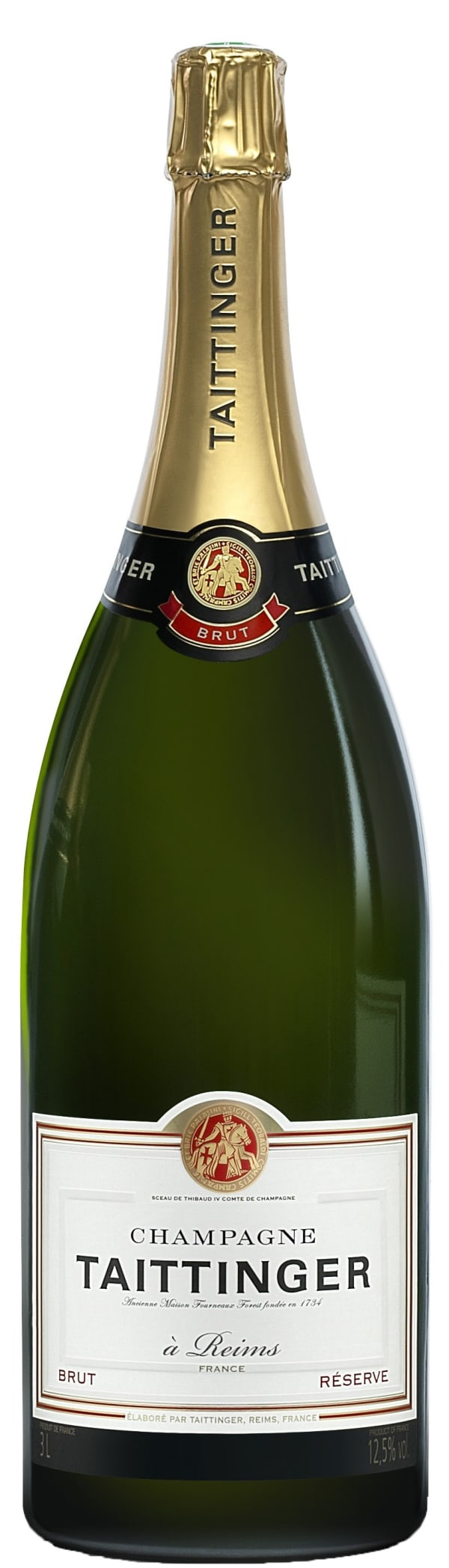 Taittinger Réserve Champagne Brut  Jeroboam