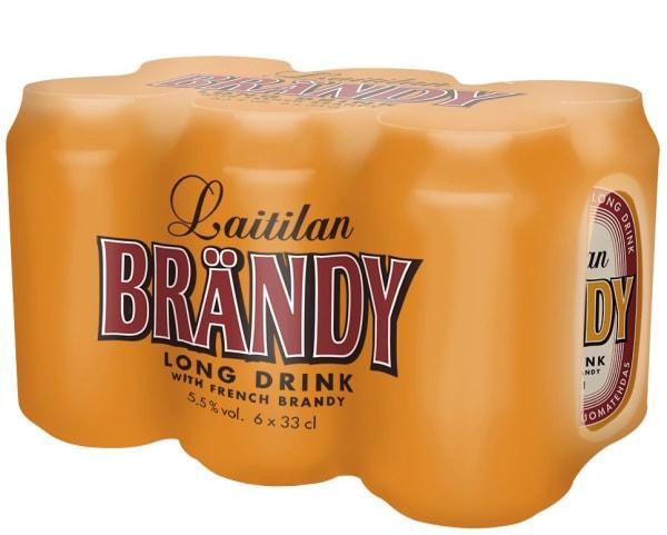 Laitilan Brändy Long Drink 6-pack  tölkki
