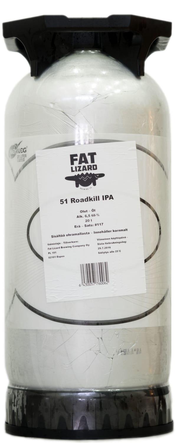 Fat Lizard 51 Roadkill IPA  keg