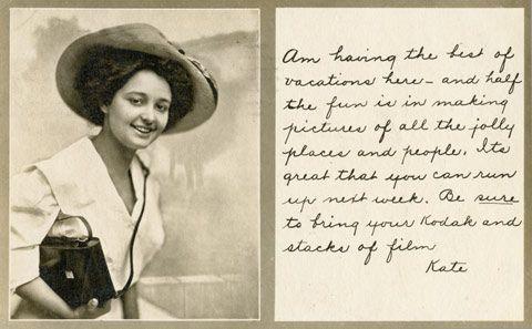 Kodak Kate. Early company poster girl for Kodak