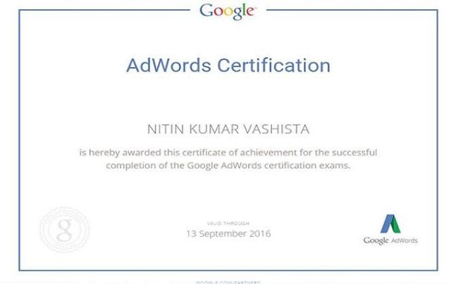 Adwords Certification from Google