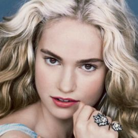 Lily James Headshot