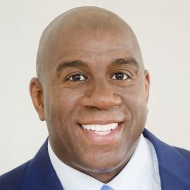 "Earvin ""Magic"" Johnson Headshot"