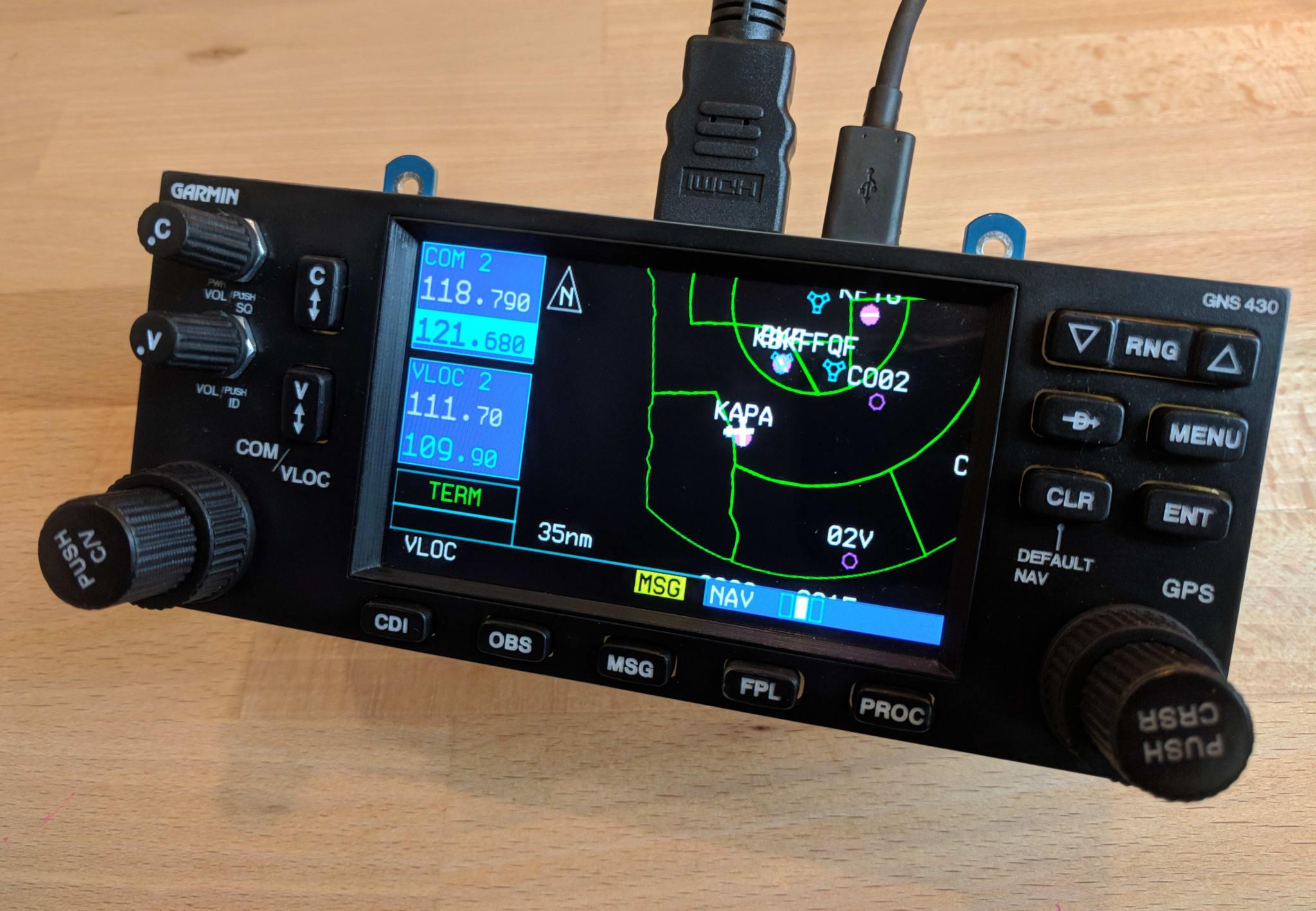 Garmin GNS 430 - Cessna 172 Flight Simulator Panel