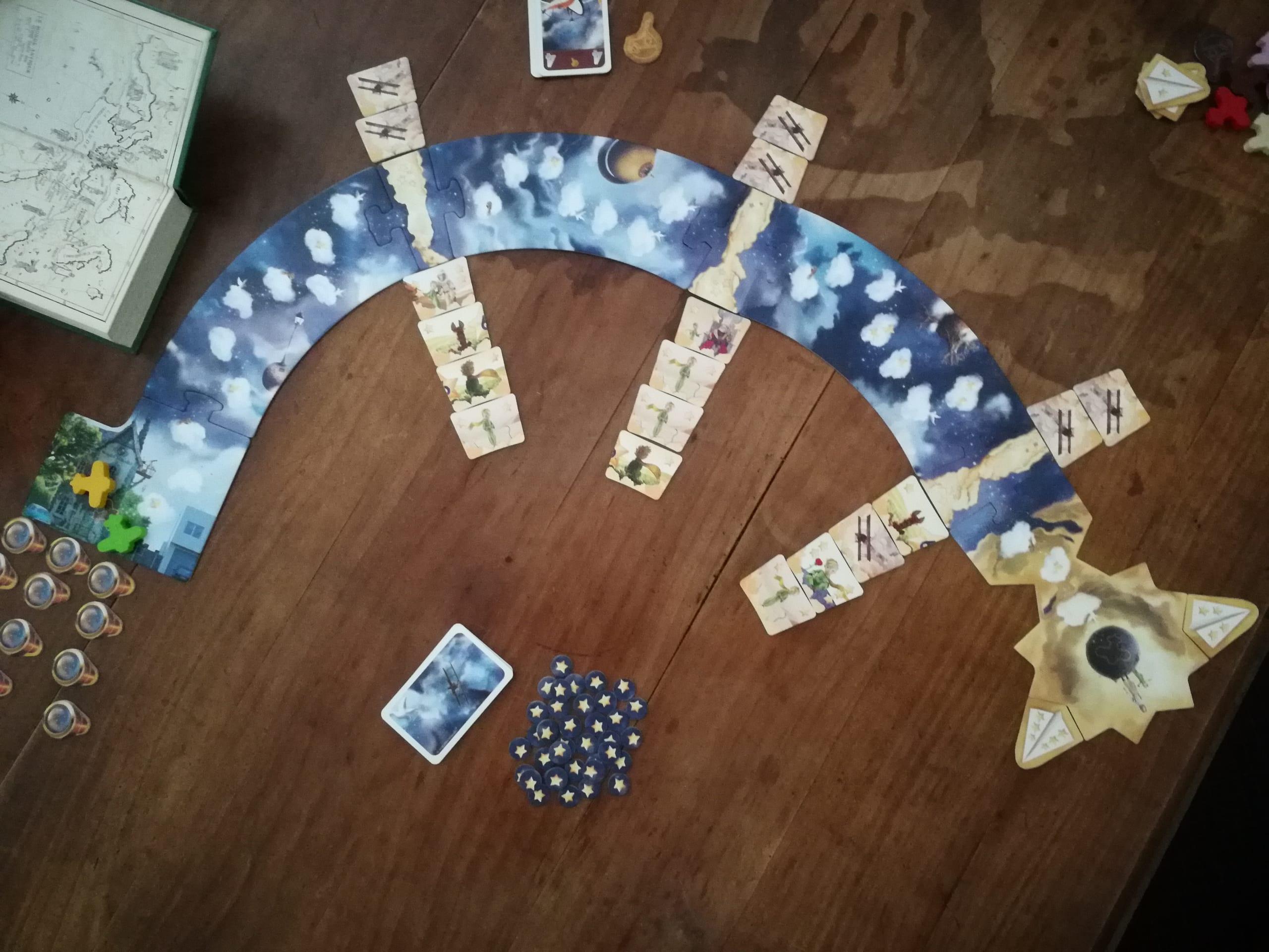 le plateau du jeu Petit Prince