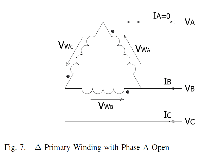 DAC Primary Winding with Phase A open