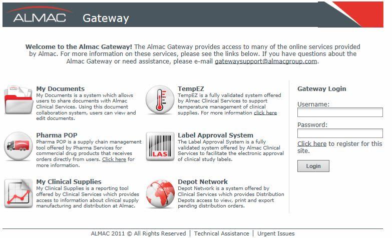 Almac Client Access