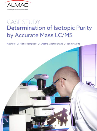 Determination of Isotopic Purity by Accurate Mass LC/MS