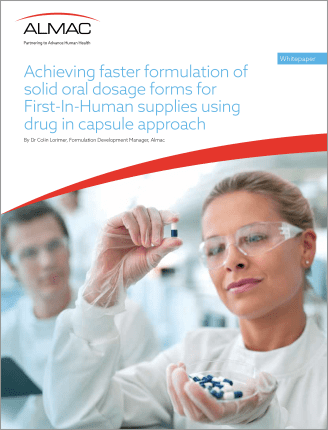 Achieving faster formulation of solid oral dosage forms for first-in-human supplies using drug in capsule approach