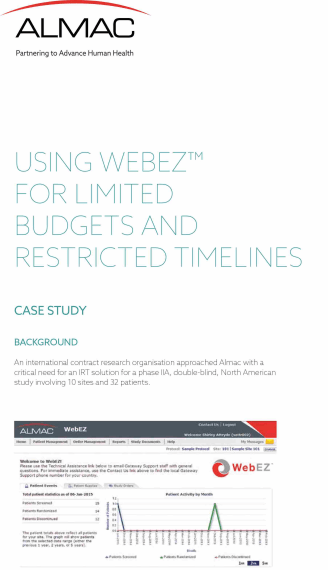 Using WebEZ™ for Limited Budgets and Restricted Timelines