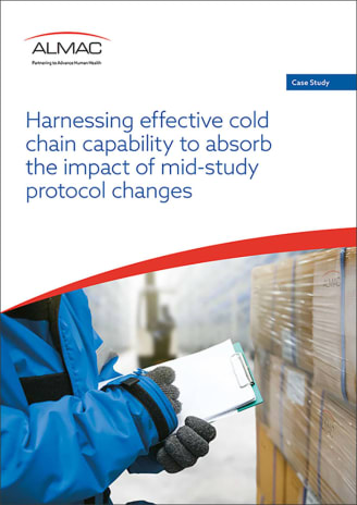 Harnessing effective cold chain capability to absorb the impact of mid-study protocol change