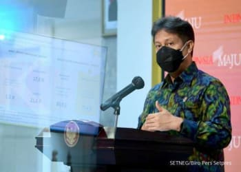 ILUSTRASI. Menteri Kesehatan Budi Gunadi Sadikin memaparkan kesiapan vaksin dan ketersediaan layanan kesehatan di Kantor Presiden, Jakarta, Selasa (29/12/2020).
