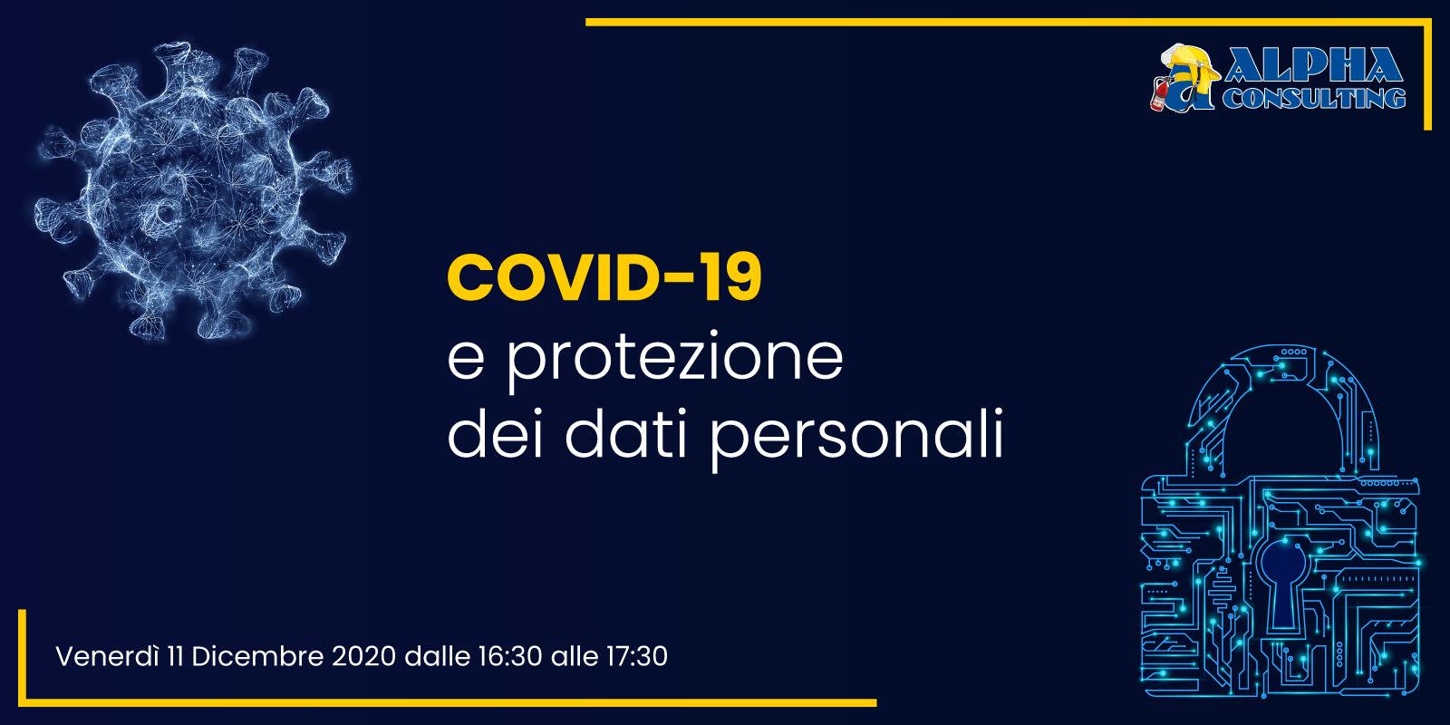 Webinar - COVID-19 e protezione dei dati personali
