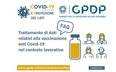 Il trattamento di dati e vaccinazione anti Covid-19: cosa c'è di nuovo?