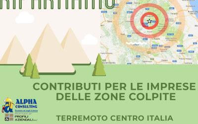 Sisma: Contributi per aziende del centro Italia