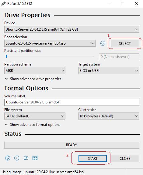 Rufus Bootable USB Screenshot