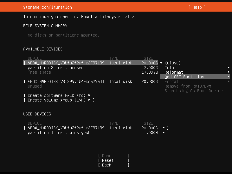 Setup Linux Server Raid 1 Step 10 Screenshot