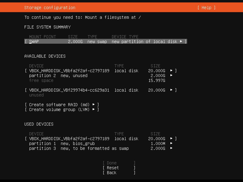Setup Linux Server Raid 1 Step 12 Screenshot
