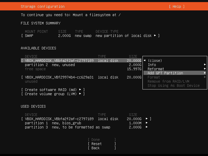 Setup Linux Server Raid 1 Step 13 Screenshot