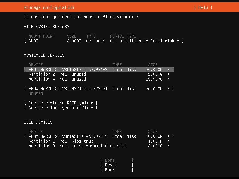 Setup Linux Server Raid 1 Step 15 Screenshot