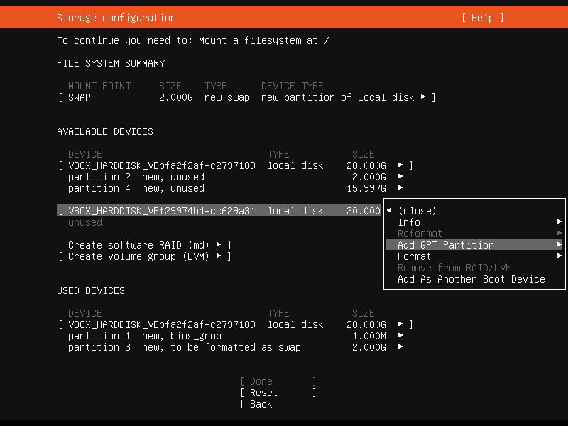 Setup Linux Server Raid 1 Step 16 Screenshot