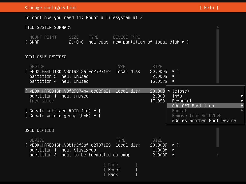 Setup Linux Server Raid 1 Step 18 Screenshot