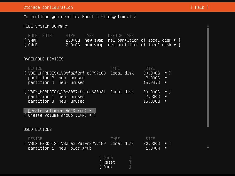 Setup Linux Server Raid 1 Step 24 Screenshot