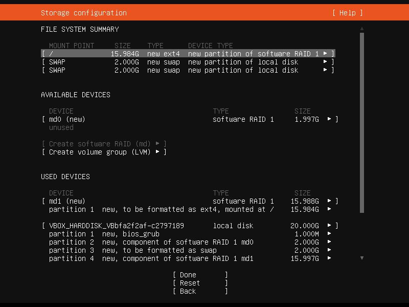 Setup Linux Server Raid 1 Step 32 Screenshot