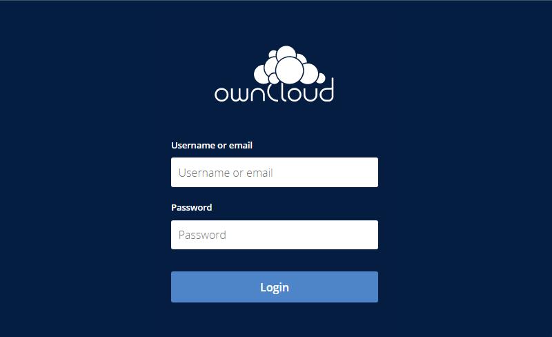 Finish Owncloud Server Setup