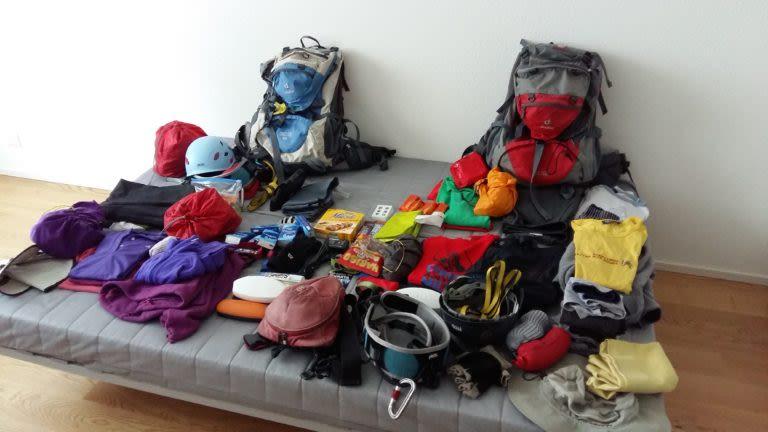 Packliste für Hüttenwanderungen