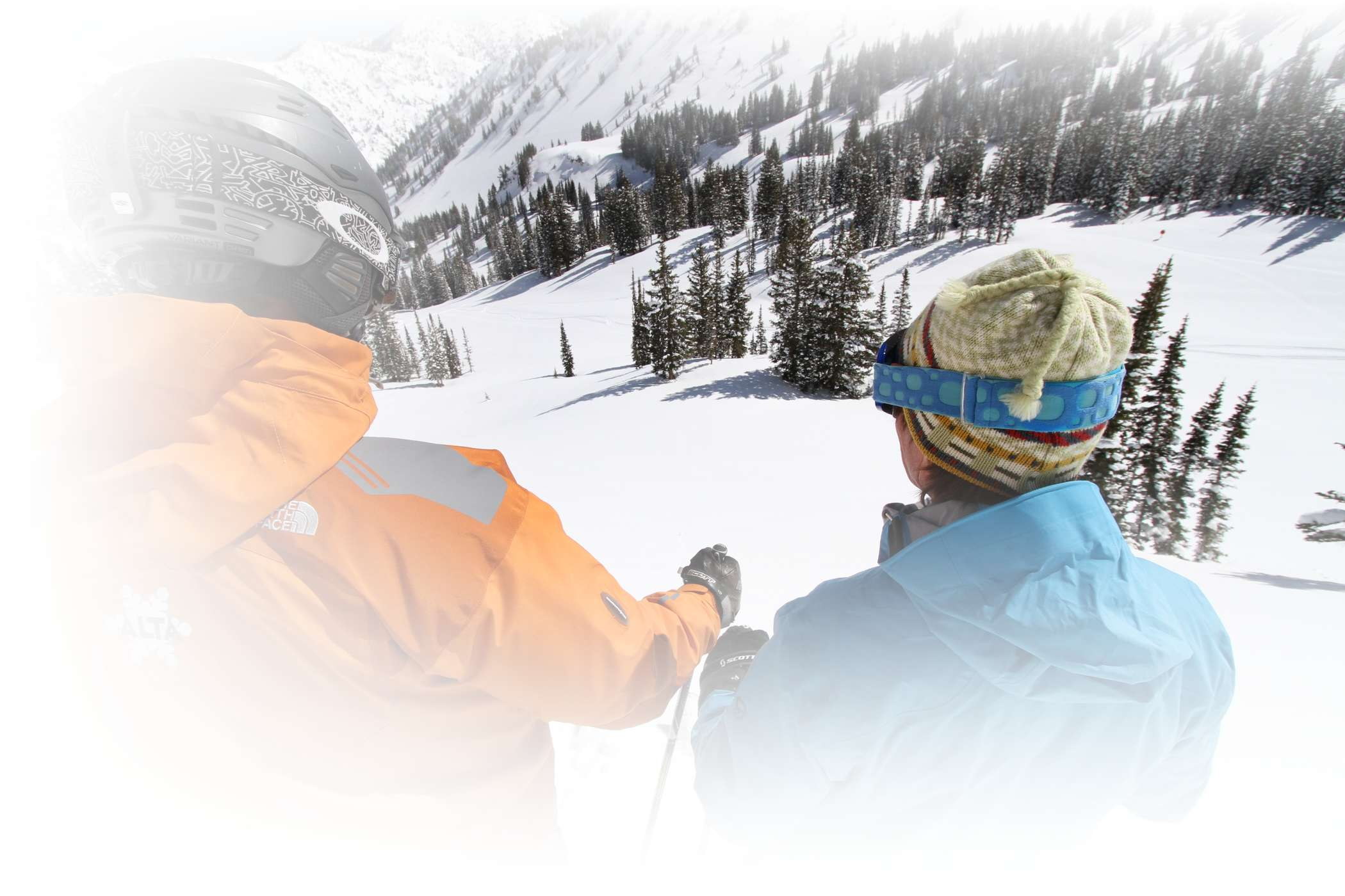 An Alf Engen Ski School instructor shows off some great tips during a lesson at Alta Ski Area