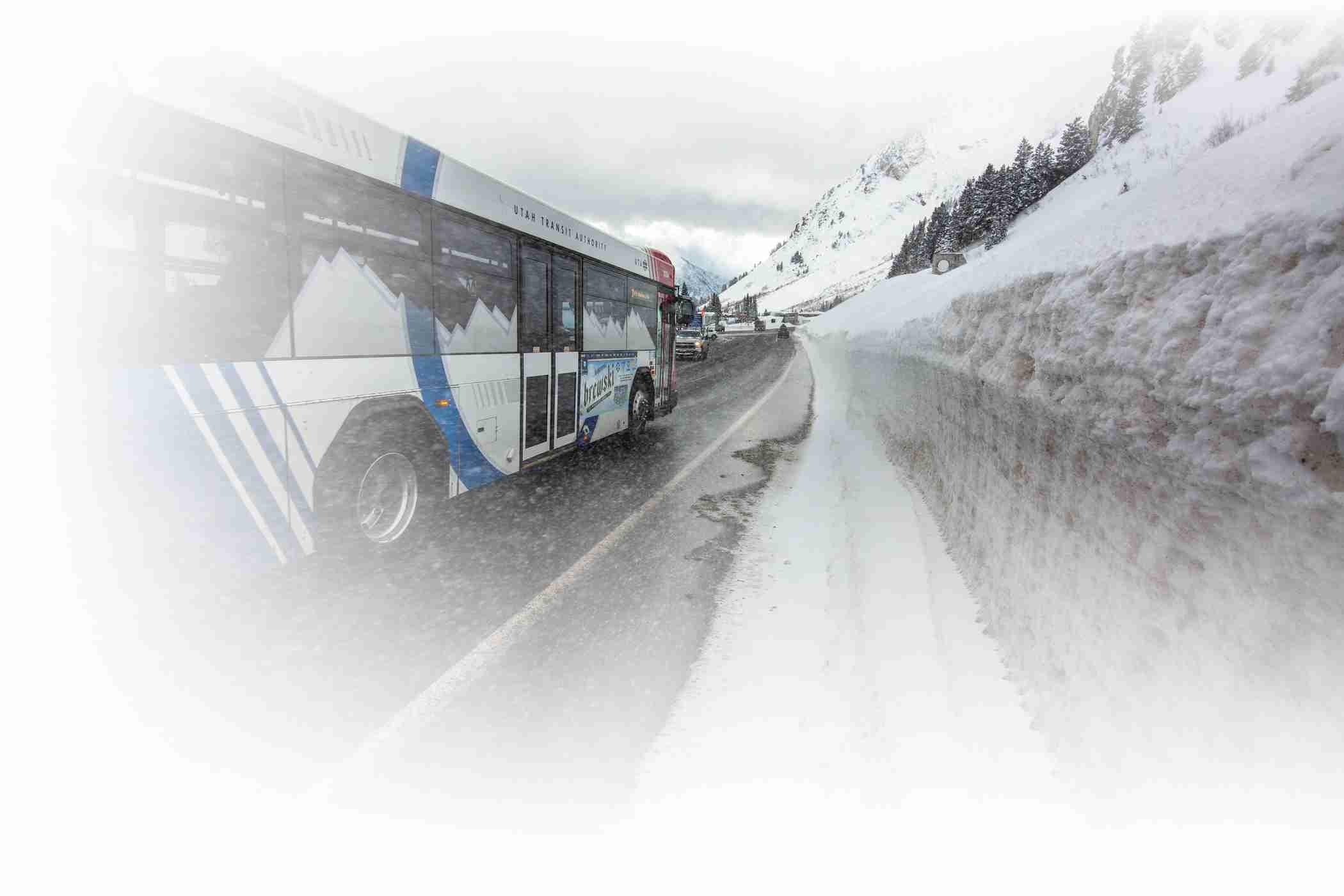 The UTA Ski Bus whisks skiers to Alta Ski Area