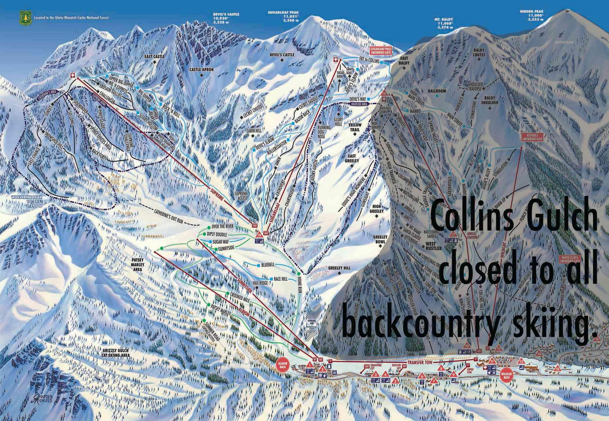 Collins Gulch closed