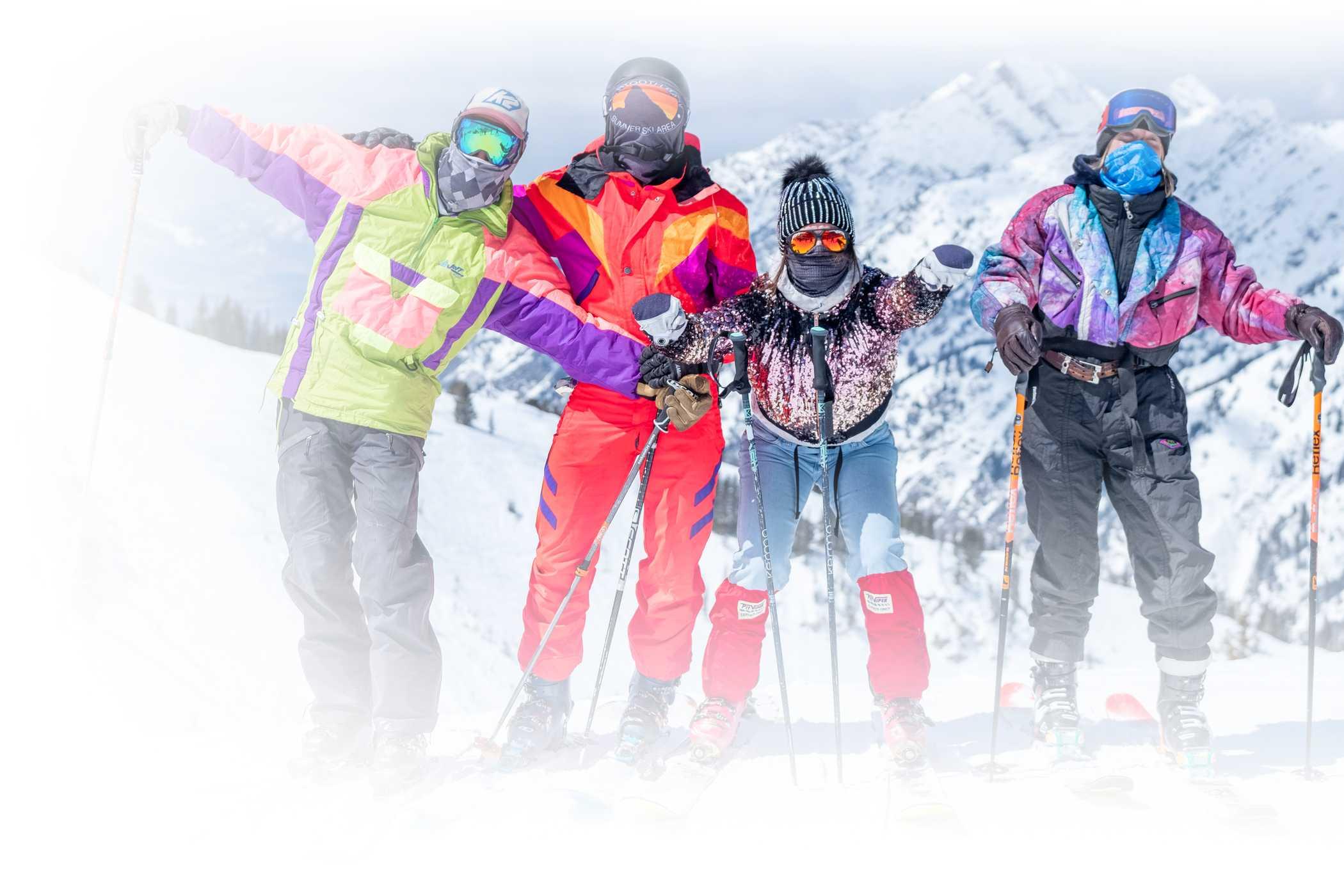 spring skiers at Alta Ski Area