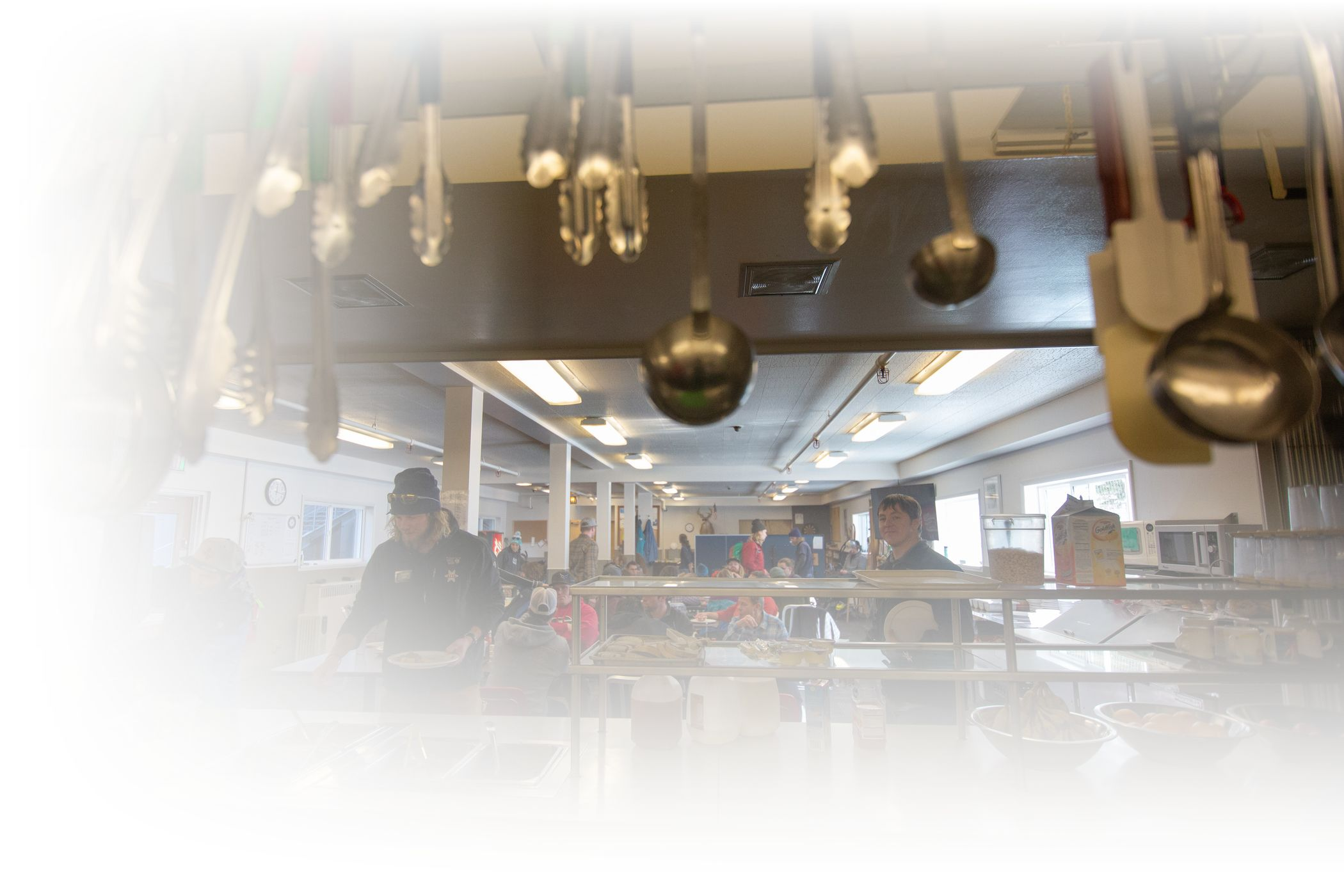 Alta's employee cafeteria with a hot lunch bar