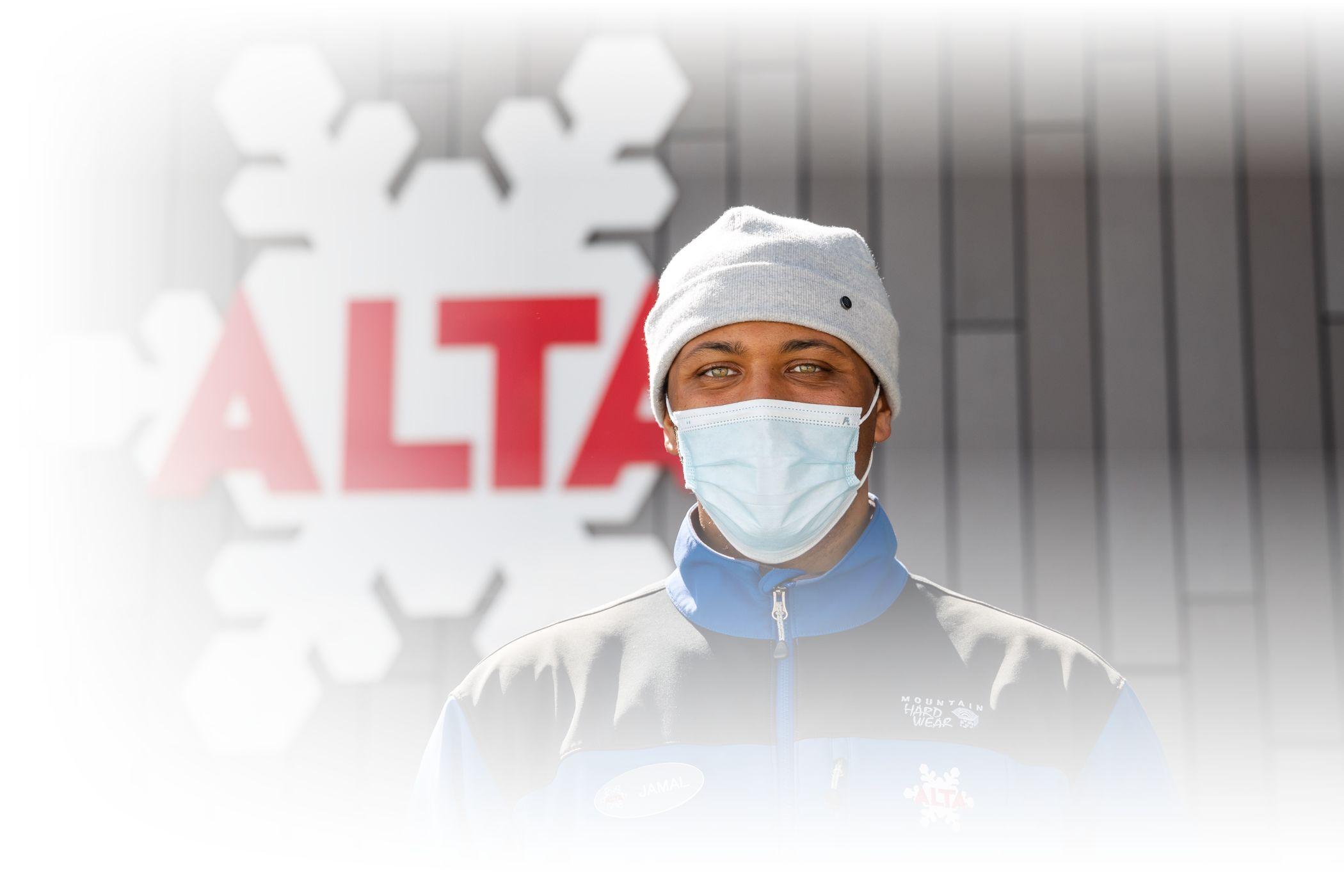 Employees wearing masks at Alta Ski Area