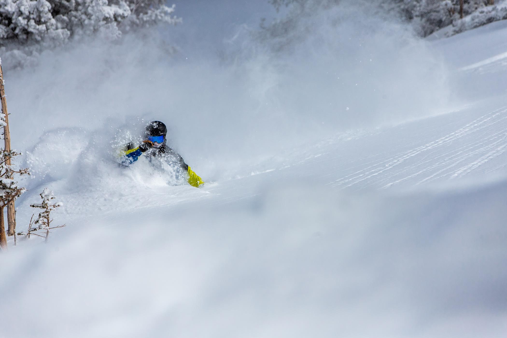 A skier enjoys Country Club powder   Photo: Rocko Menzyk