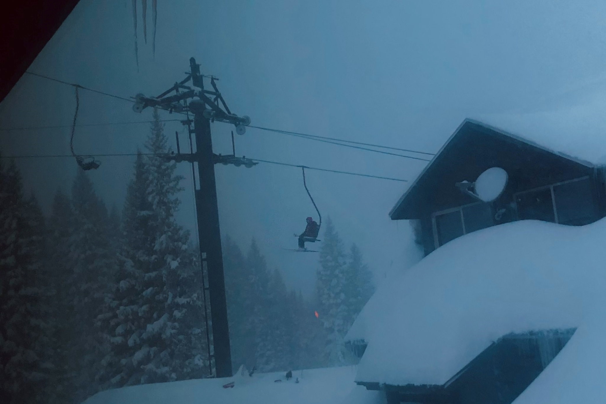 The view from Alta's employee housing on another day of Interlodge   Photo: Lexi Dowdall