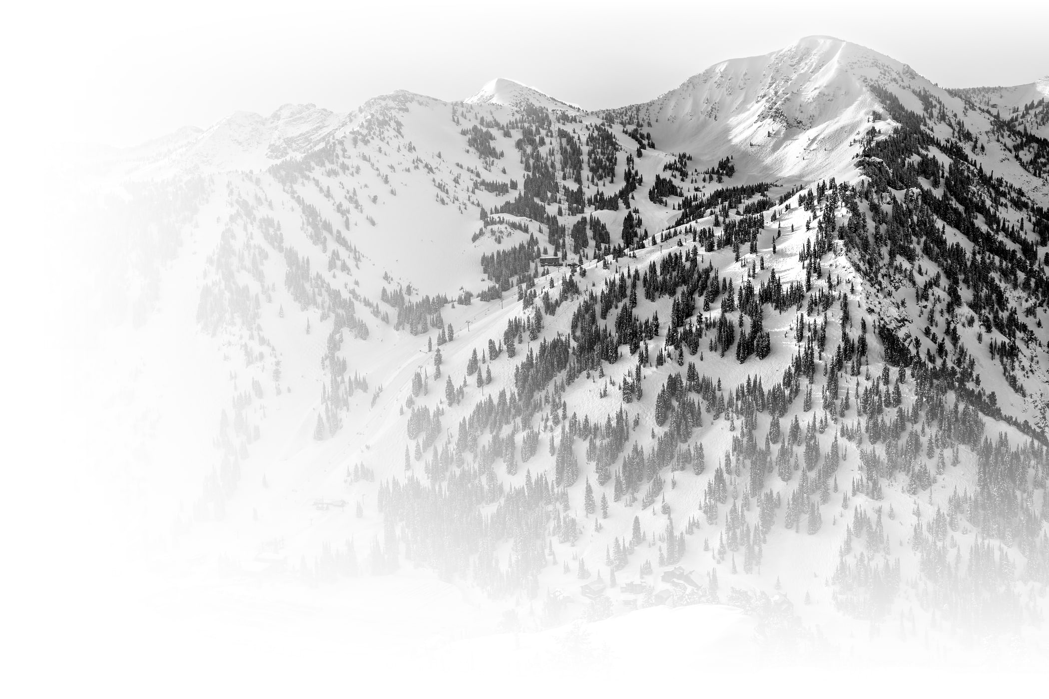 Alta Ski Area aerial view