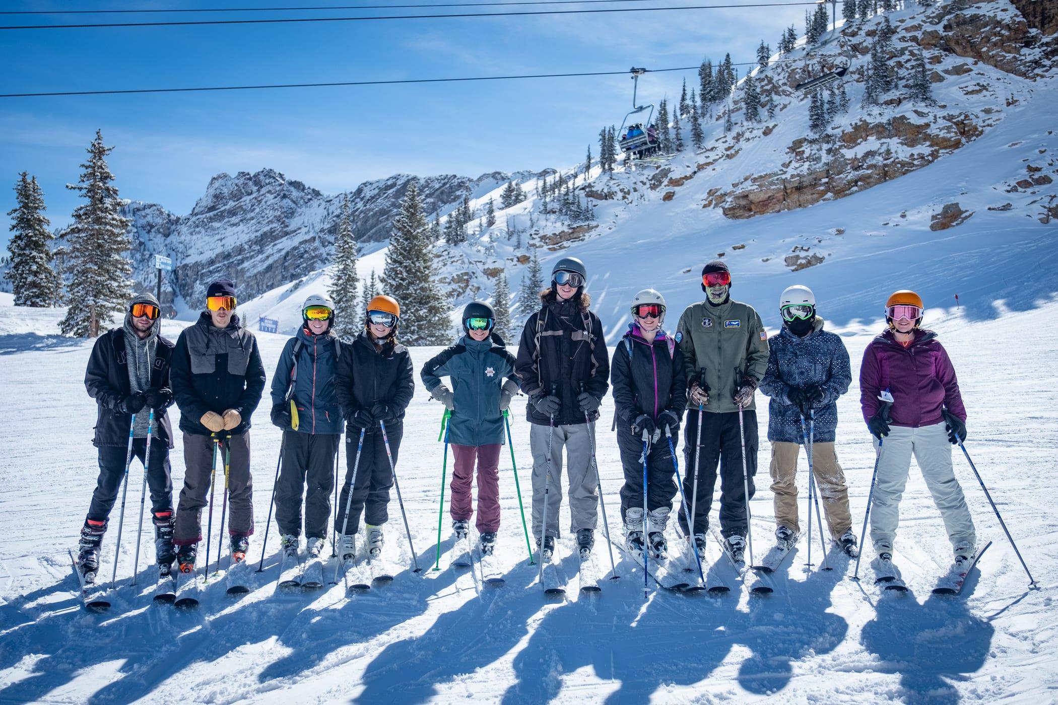 University of Utah students visit Alta Ski Area