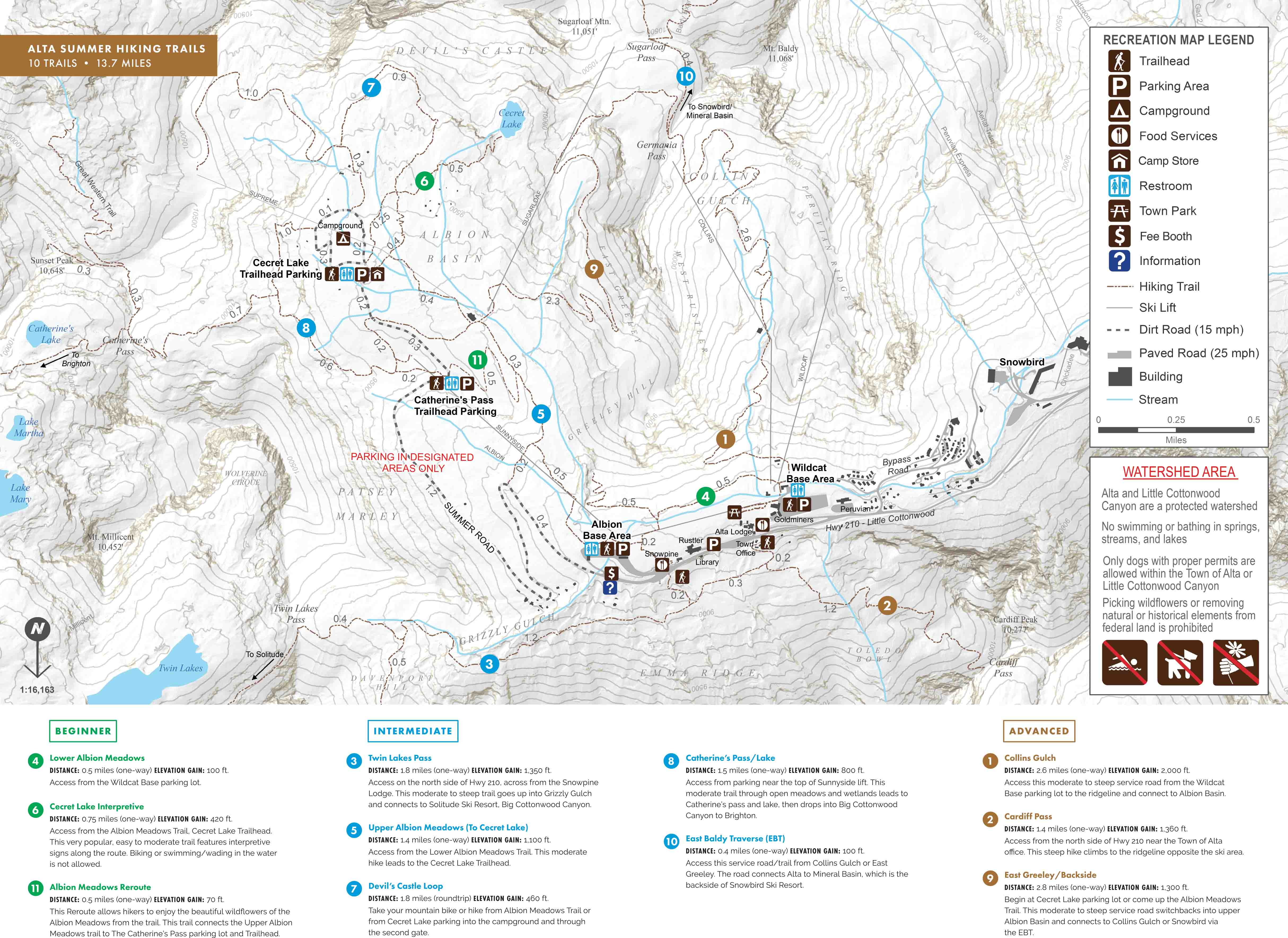 Alta Summer Trail Map