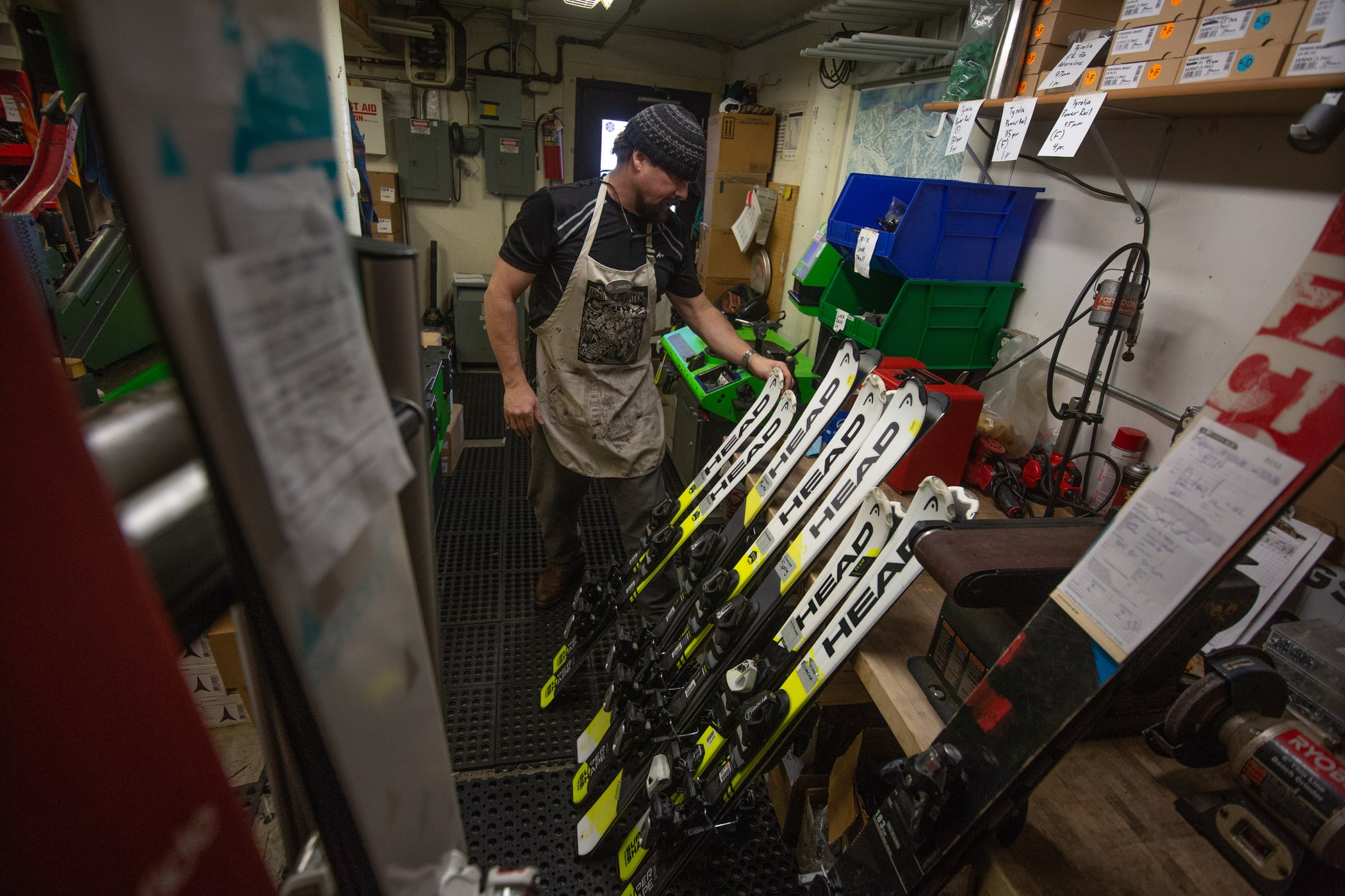 Alta Ski Shop tuning and mounting services