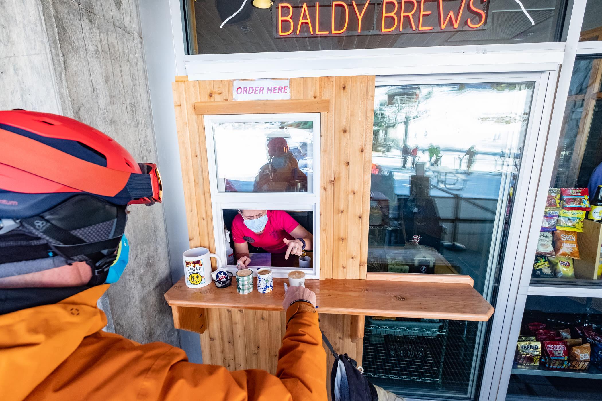 Slopside coffee at Baldy Brews