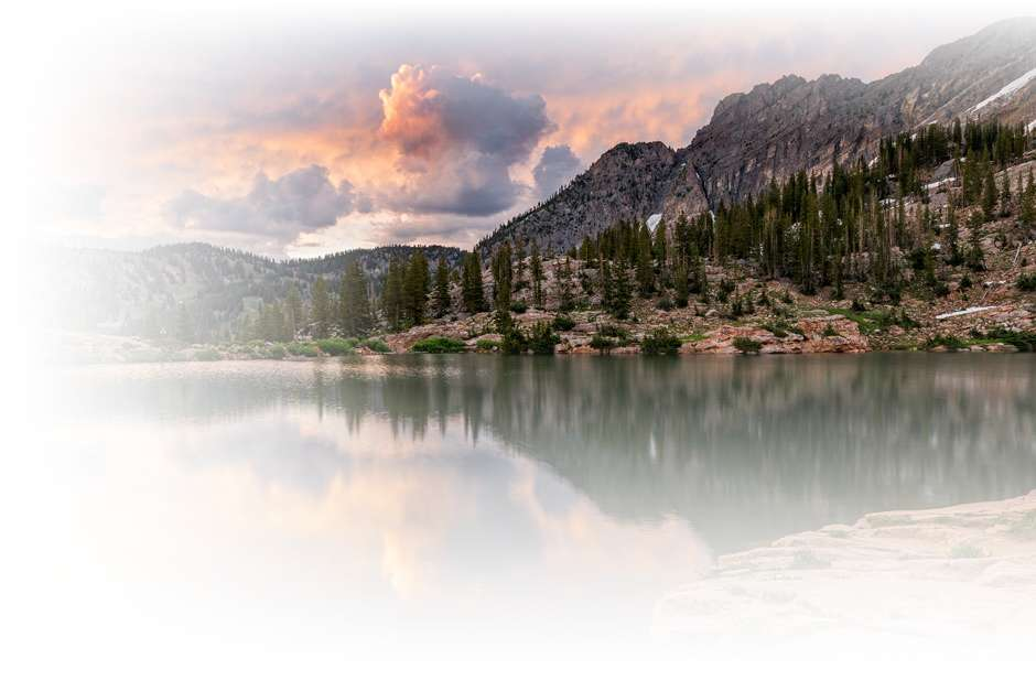 sunset at Cecret lake